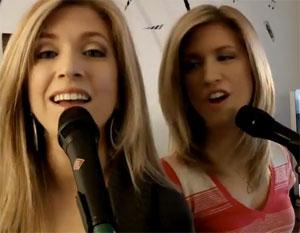 jumelles la voix sabrina et stéphanie abrabé blackbird beatles