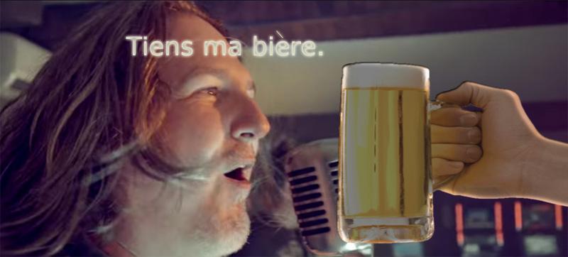 Tiens ma bière.